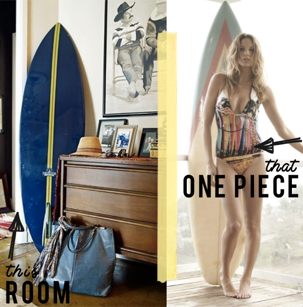 'Vintage Surf' One Piece Swimsuit