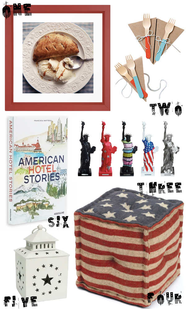 Decorating with USA themed items!