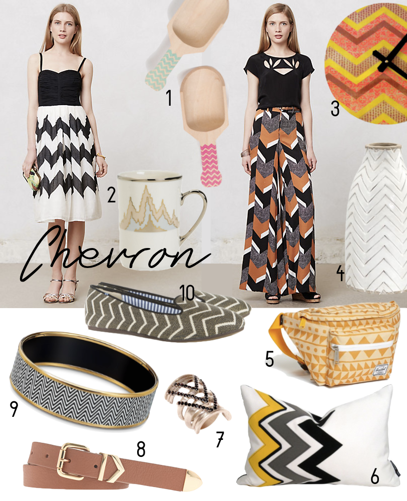 Chevron from Anthropologie, Hermes, Etsy, House of Harlow and more.