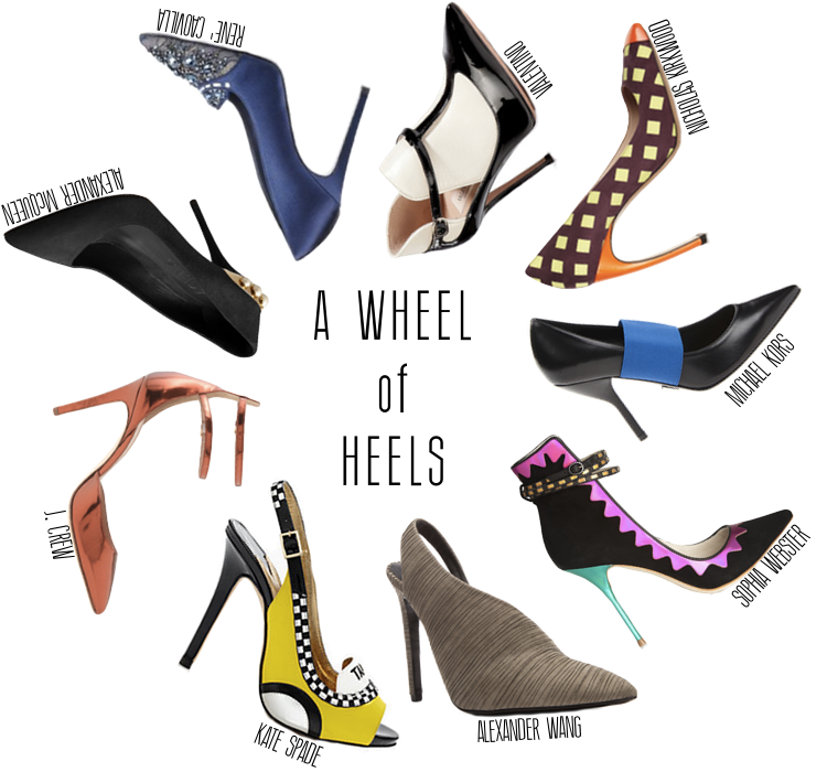 How to dress in nine different heel and platform options this Fall 2013 - including Kate Spade, Alexander Wang, J.Crew, Alexander McQueen and Michael Kors