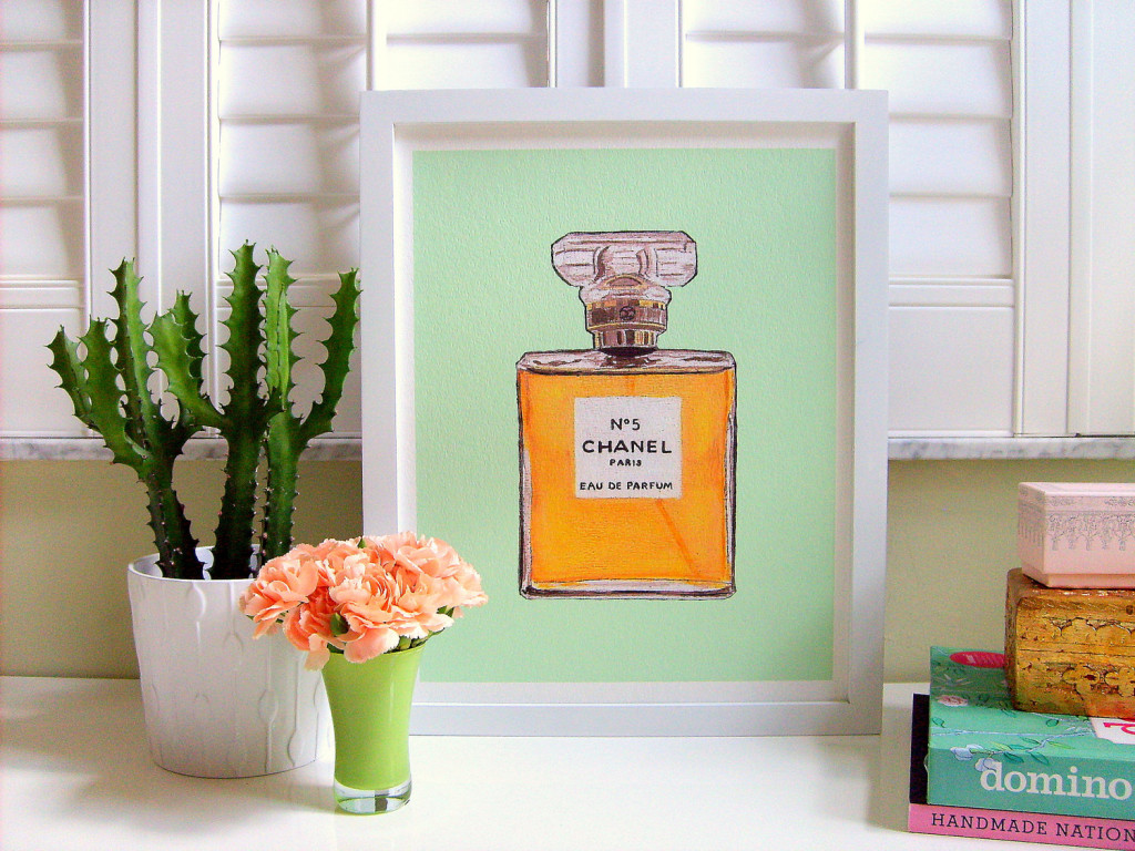 CHANEL No 5 MINT Print by AnnChovie