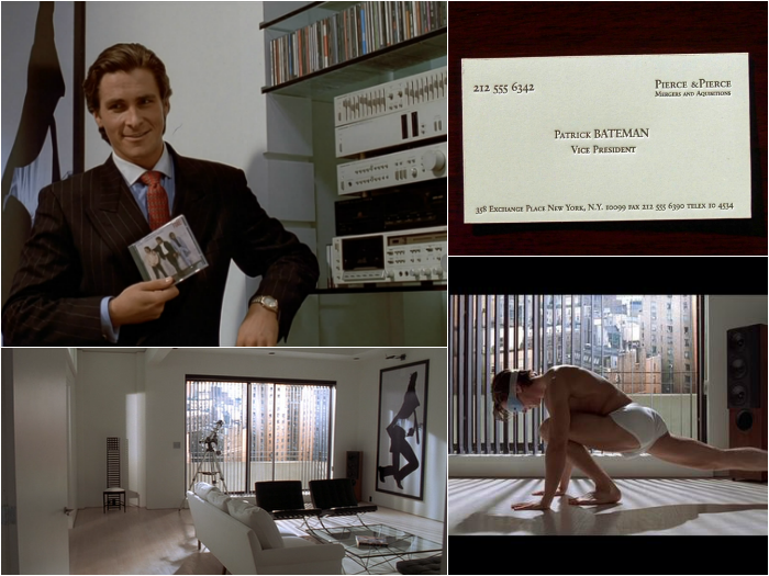 American Psycho Set Design by The Walkup in Silver Screen Scenes