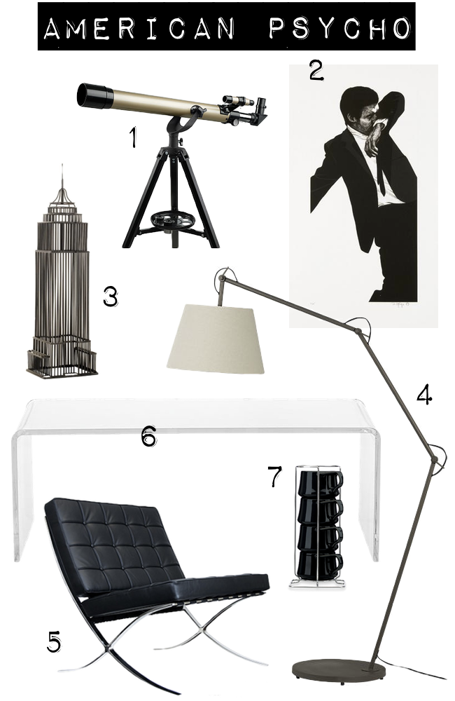 American Psycho Movie Set and Home Decor by The Walkup