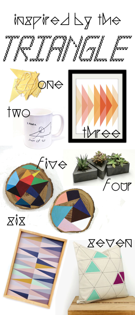 Inspired By the Triangle in Home Decor at The Walkup Blog