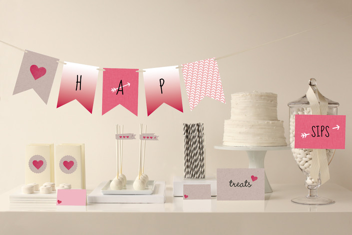 Valentine's Ombre Love Party Decor by Minted