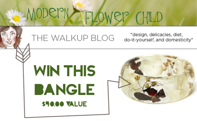 GIVEAWAY: Modern Flower Child Resin Jewelry via The Walkup