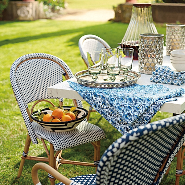 Riviera Side Chair – Navy from Serena and Lily