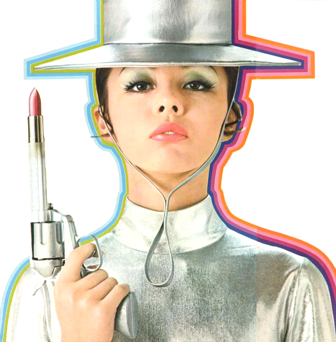 Japanese lipstick advertisement, 1969.  Very Mod.
