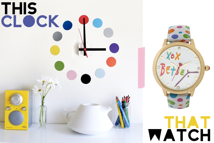 This Watch That Clock featuring tench Design Studio and Betsey Johnson