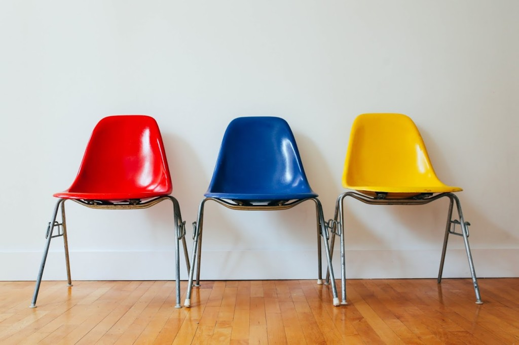 Plastic Eames Chairs