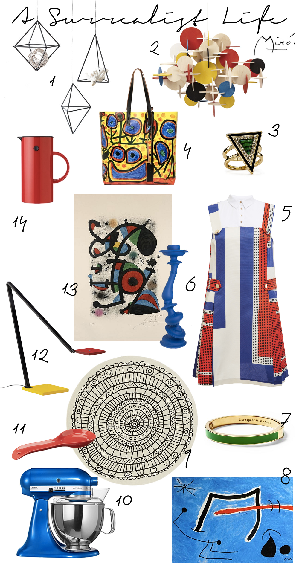 Surrealist Lifestyle Items by The Walkup inspired by Joan Miro