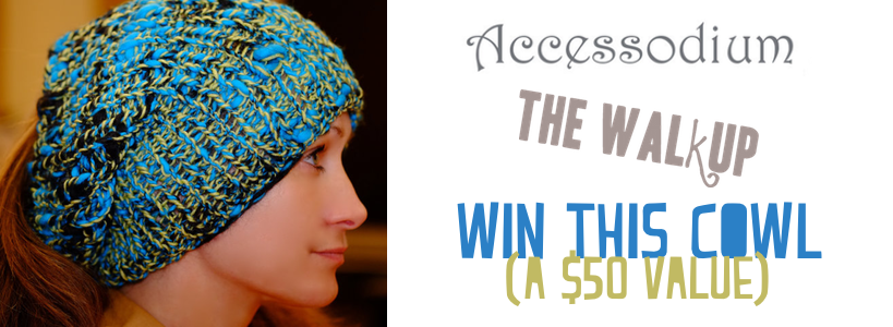 Enter to win creations from Accessodium, An Etsy shop filled with wool, crocheted goods, and knits
