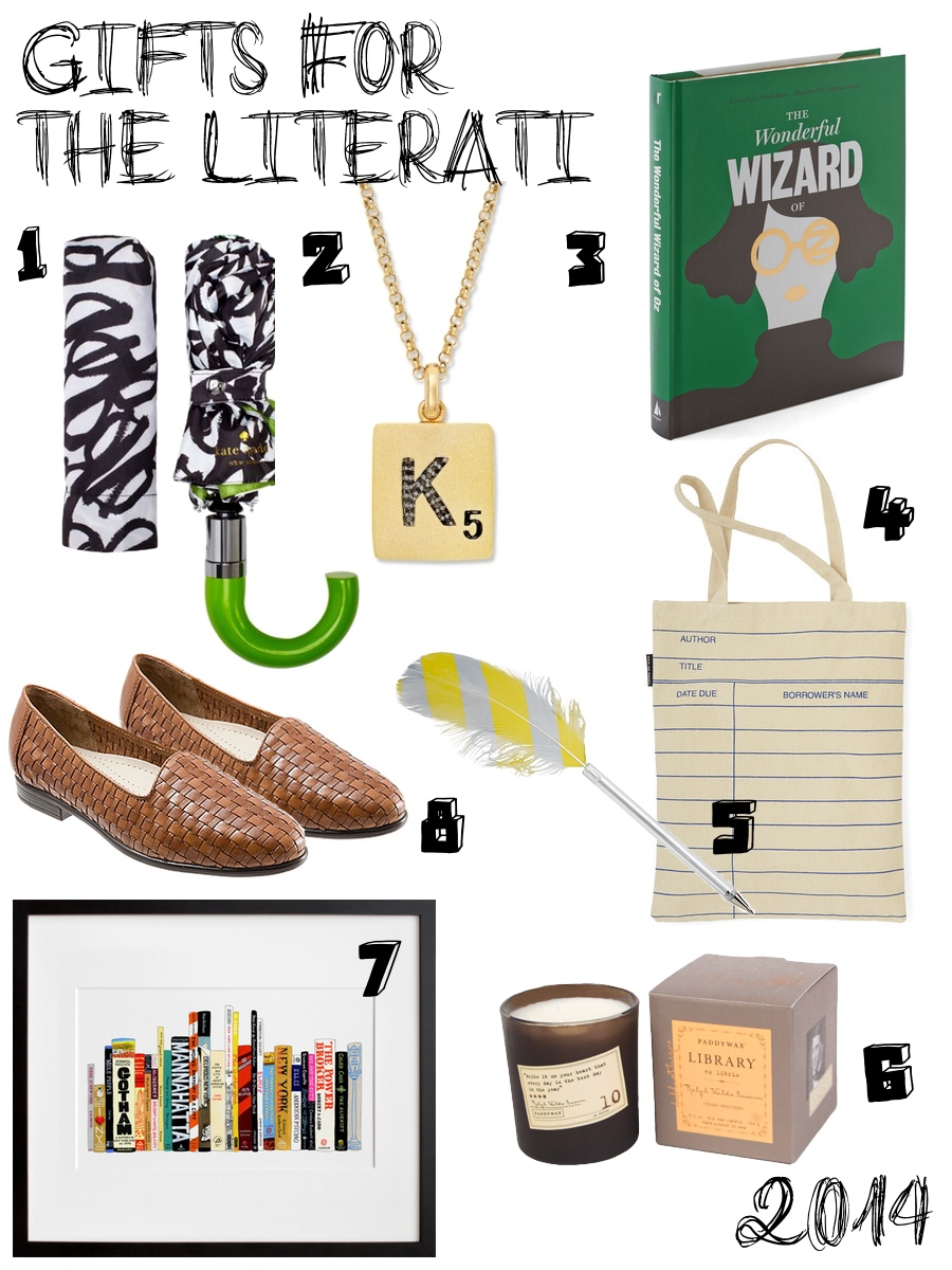 Holiday Guide 2014 - Gifts for Bilbiophiles, Bookworms and Literary Lovers