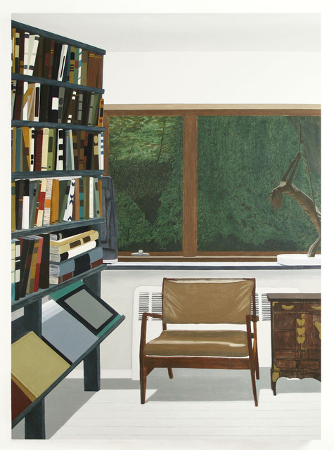 Becky Suss, Reading Room, 2012, Oil on Canvas