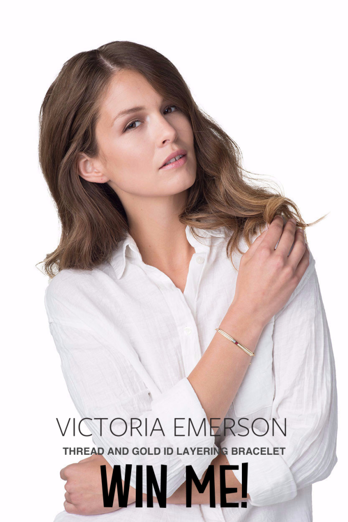 Enter now to win aGold & Thread Layering ID bracelet, free! In collaboration with Victoria Emerson.
